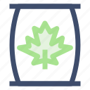 compost, degradable energy, leaf, trash icon