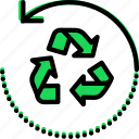 ecology, enviorment, nature, recycle, sign icon