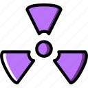 ecology, enviorment, nature, radiation, sign icon