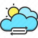 cloud, conserve, eco, ecology, environment, green, nature icon