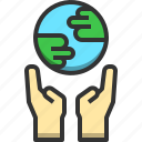 conserve, earth, eco, ecology, environment, hand, nature icon