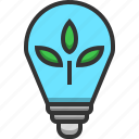 bulb, light, ecology, electricity, energy, lamp, leaf