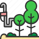 oil, ecology, energy, environment, green, nature, tree icon