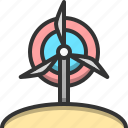 charge, conserve, ecology, energy, turbine, wind, windmill icon