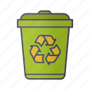 bin, can, garbage, recycling, reducing, rubbish, waste