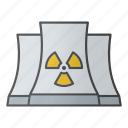 energy, nuclear, nuclear plant, plant, power, reactor, station icon