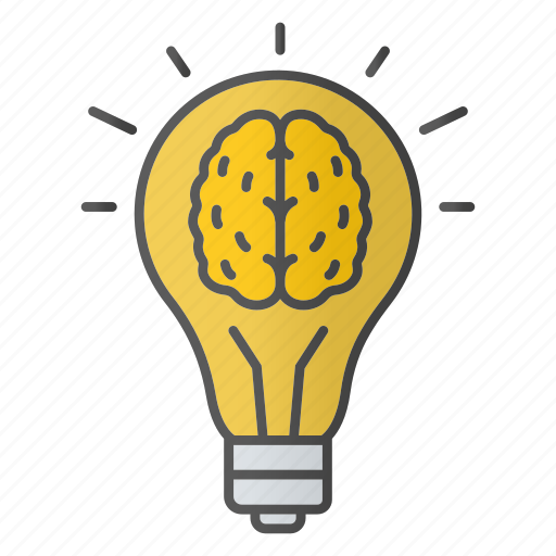 Brain, Bulb, Creativity, Idea, Innovation, Inspiration, Lightbulb Icon