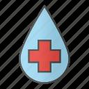 blood, cross, drop, liquid, medical cross, water
