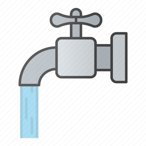 faucet, pipe, resource, tap, valve, water, waterflow icon