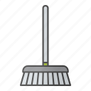 broom, broomstick, brush, clean, cleaner, housework, sweep icon