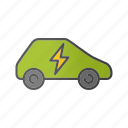 auto, car, eco car, electric automobile, electric vehicle, plug icon