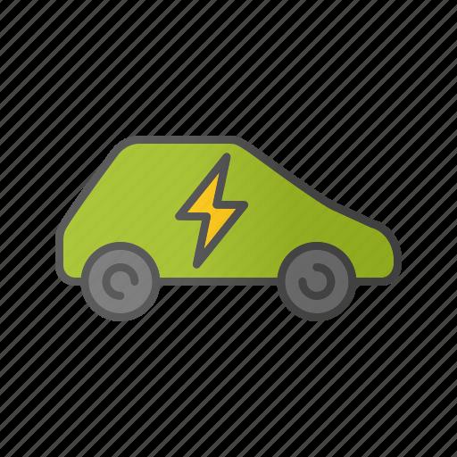 auto, car, eco car, electric automobile, electric vehicle, plug icon