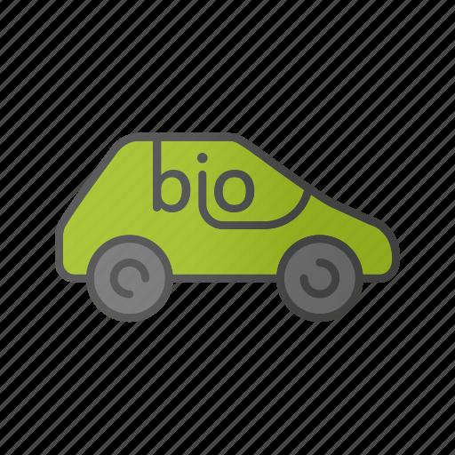 auto, automobile, bio car, drive, eco, ecocar, transport icon