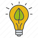 bulb, eco, ecology, energy, innovation, leaf, lightbulb icon