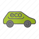 auto, automobile, bio car, drive, eco, ecocar, transport icon