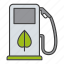 bio, biofuels, eco, fuel pump, gas station, petrol station icon
