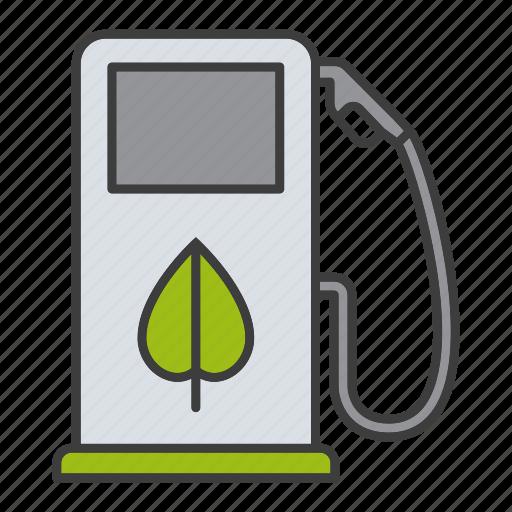 bio, biofuels, eco, fuel pump, gas station, petrol station icon