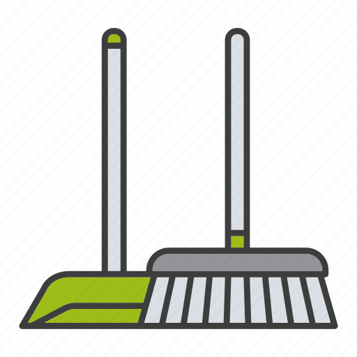 broom, broomstick, clean, cleaner, housework, scoop, sweep icon