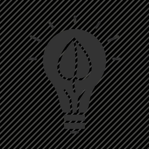 bulb, eco, ecology, energy, innovation, leaf, lightbulb icon