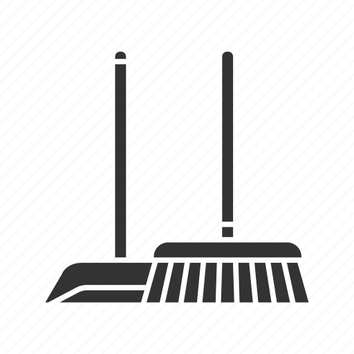 broom, broomstick, clean, cleaner, housework, scoop, sweep icon
