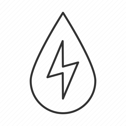 drop, eco, electricity, energy, lightning, power, water icon