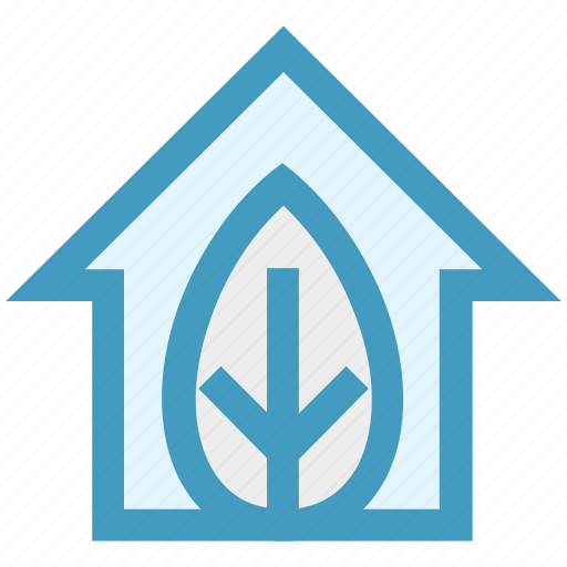 ecology, environment, green, green house, home, house, leaf icon