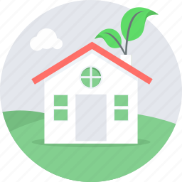 eco, ecology, green, home, house, hut icon