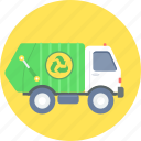 garbage truck, waste
