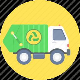 garbage truck, waste icon