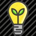 bulb, idea, light, plant