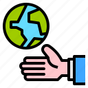 drop, ecology, hands, save, water icon