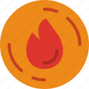 ecology, fire, green, planet, pollution icon