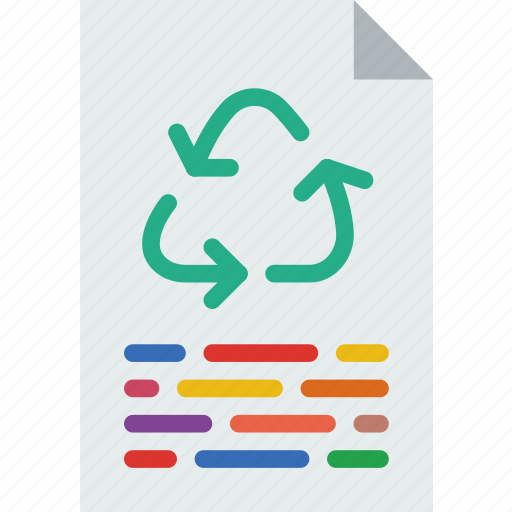 ecology, green, paper, planet, pollution, recycle icon