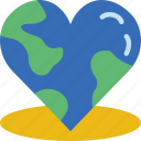 ecology, green, love, planet, pollution, the, world icon