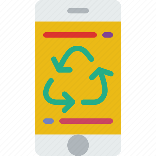 app, ecology, green, planet, pollution, recycle icon