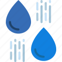 ecology, green, planet, pollution, raindrops icon