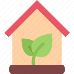 eco, ecology, guardar, house, nature, save icon