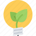 eco, ecology, electricity, nature, save, sprout icon