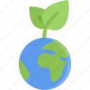 eco, ecology, nature, planet, save, sprout, guardar icon