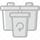 bins, ecology, enviorment, nature, recycling icon