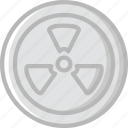 ecology, enviorment, nature, radioactive, sign icon