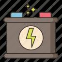 accummulator, accumulator, car battery, energy icon