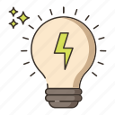 electrical, energy, green energy, light bulb icon