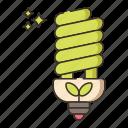 energy, energy efficient lighting, light bulb icon