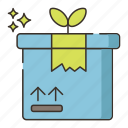 environmental program, green, green packaging icon