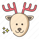 deer, fauna, reindeer icon