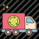 dump, garbage, recycle, truck, van icon