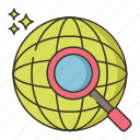 global research, search, global, discover, research icon
