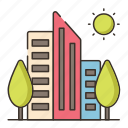 city, green, green city icon