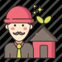 construction, green, green construction icon